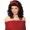 Storybook Black w/Red Ribbon Wig